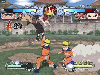 Naruto Gekitou Ninja Taisen 3 Naruto frappe Gaara