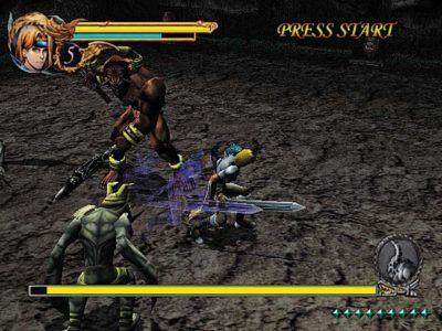 Raging Blades Gray esquive un coup d'épée.
