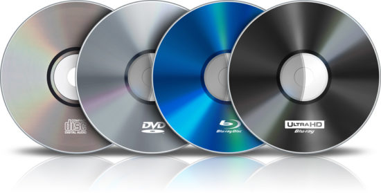 CD DVD Blu-Ray