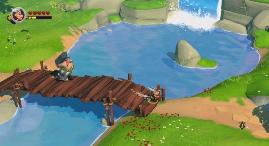 Astérix et Obélix XXL3 - Le menhir de cristal Astérix sur un pont