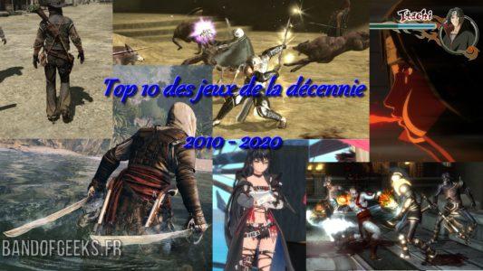 Top 10 jeux de la décennie