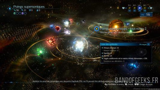 Final Fantasy VII Remake écran évolution des armes
