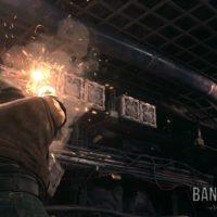Final Fantasy VII Remake Barret mitraille des caisses