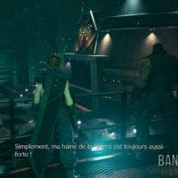 Final Fantasy VII Remake Cloud et Barret devant la tour Shinra
