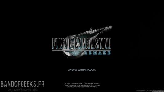 Final Fantasy VII Remake écran titre