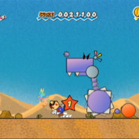 Super Paper Mario ennemi attaque Mario