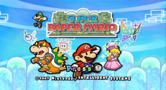 Super Paper Mario écran titre