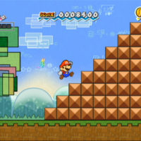 Super Paper Mario Mario escalade un escalier