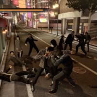 Yakuza 5 baston en ville avec Kiryu