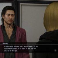 Akiyama discute avec une PNJ Yakuza 5