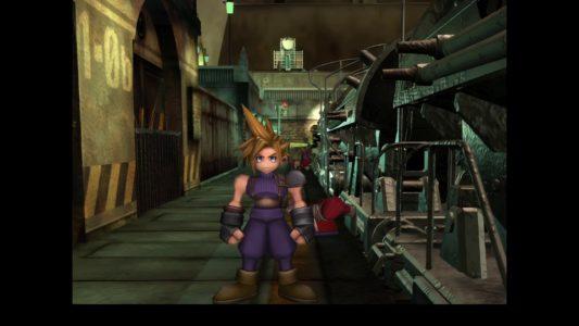 Final Fantasy VII DX Cloud à la sortie du train