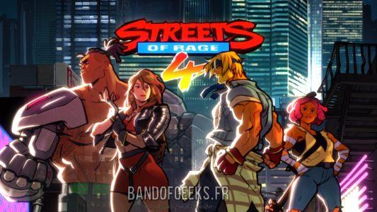 Streets of Rage 4 écran titre