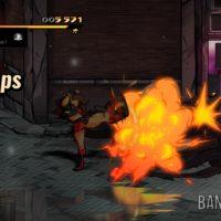 Streets of Rage 4 Blaze casse une voiture à coups de pied