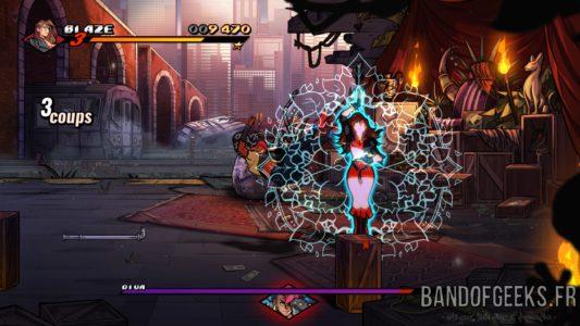 Streets of Rage 4 Blaze fait une attaque ultime