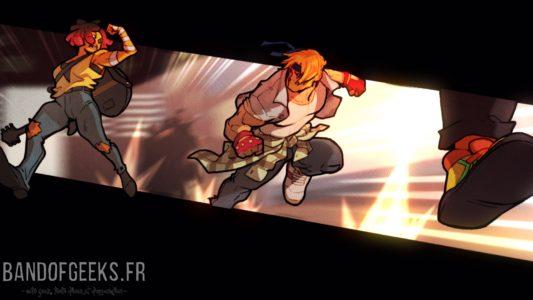 Streets of Rage 4 cinématique avec Axel et Cherry