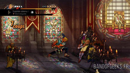 Streets of Rage 4 Axel découpe des ennemis