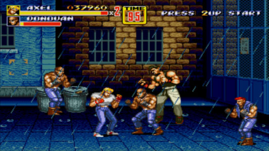 Streets of Rage II Axel affronte Barbon