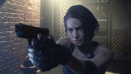 Jill Valentine braque son arme