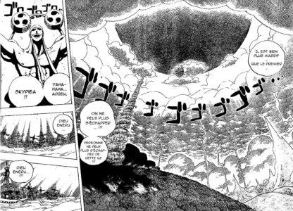 One Piece Ener s'enfuit vers le ciel