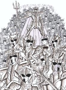 Saint Seiya armée de Poséidon