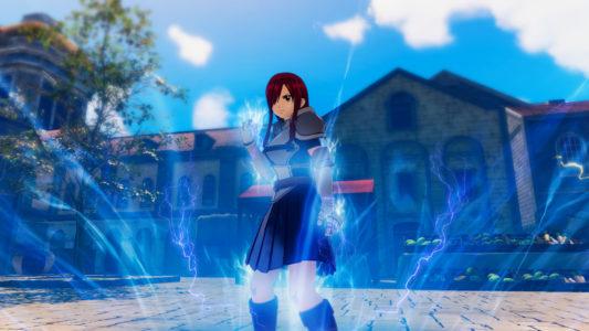 Fairy Tail Erza prépare une magie