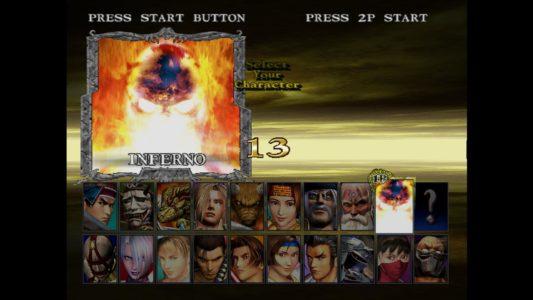 SoulCalibur écran sélection des personnages