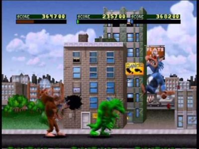 Rampage World Tour bataille en ville