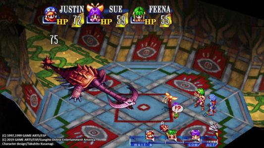 Grandia HD remaster combat