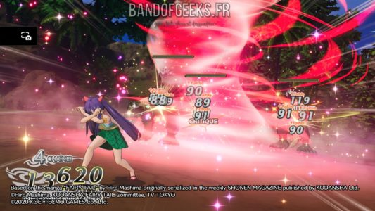 Fairy Tail Wendy explose des ennemis