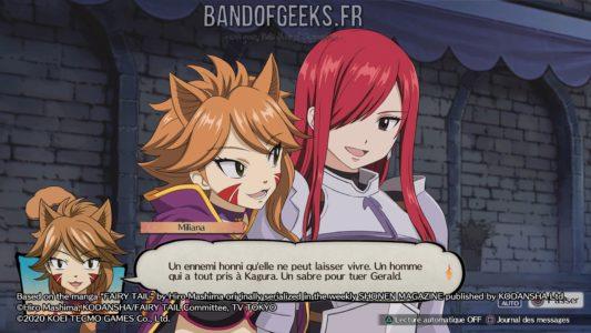 Fairy Tail Miliana discute avec Erza