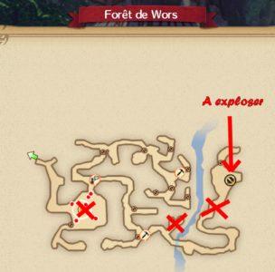 carte bonbons forêt de wors