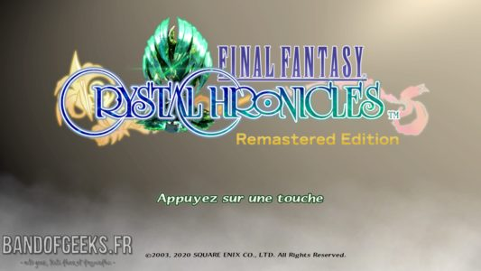 Final Fantasy Crystal Chronicles Remastered Edition écran titre