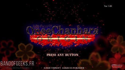 écran titre OneeChanbara