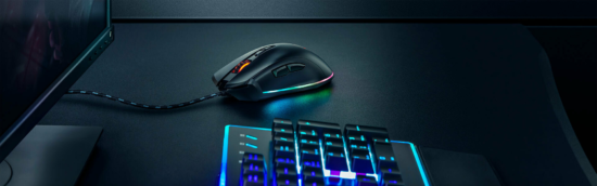 souris Trust GXT 900 Qudos RGB Gaming Mouse bureau sombre Band of Geeks