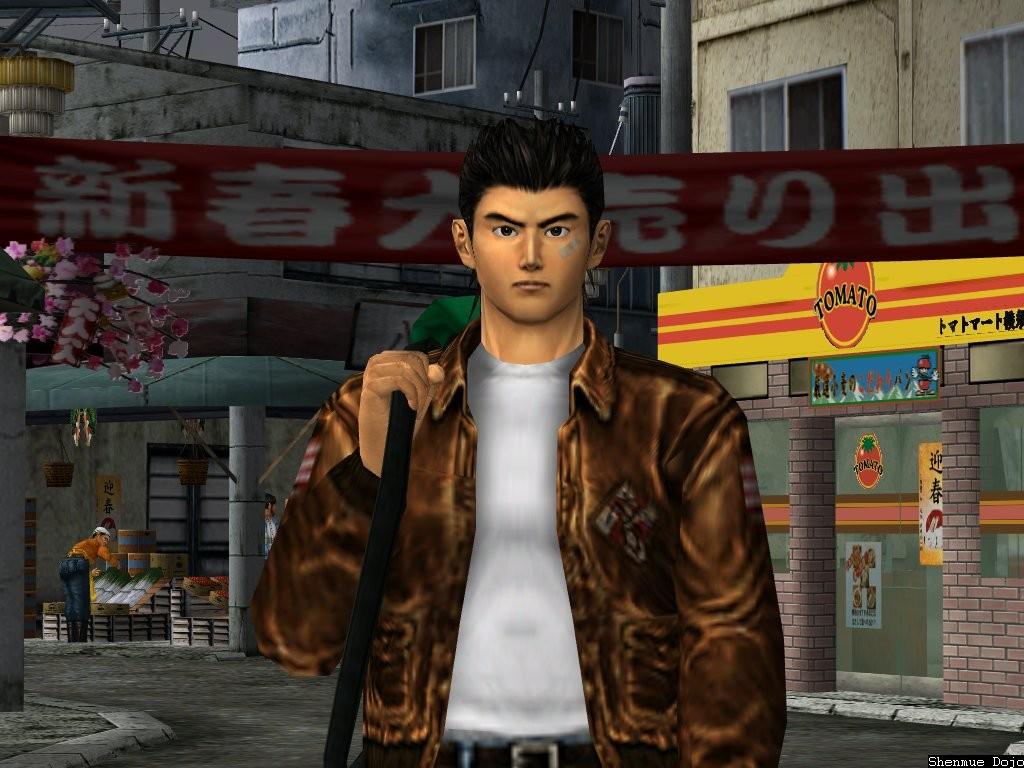 Shenmue Ryo porte son sac à dos