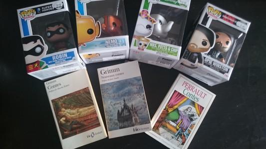 Figurines POP et livres de contes