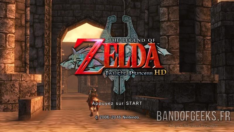 The Legend of Zelda - Twilight Princess HD écran titre