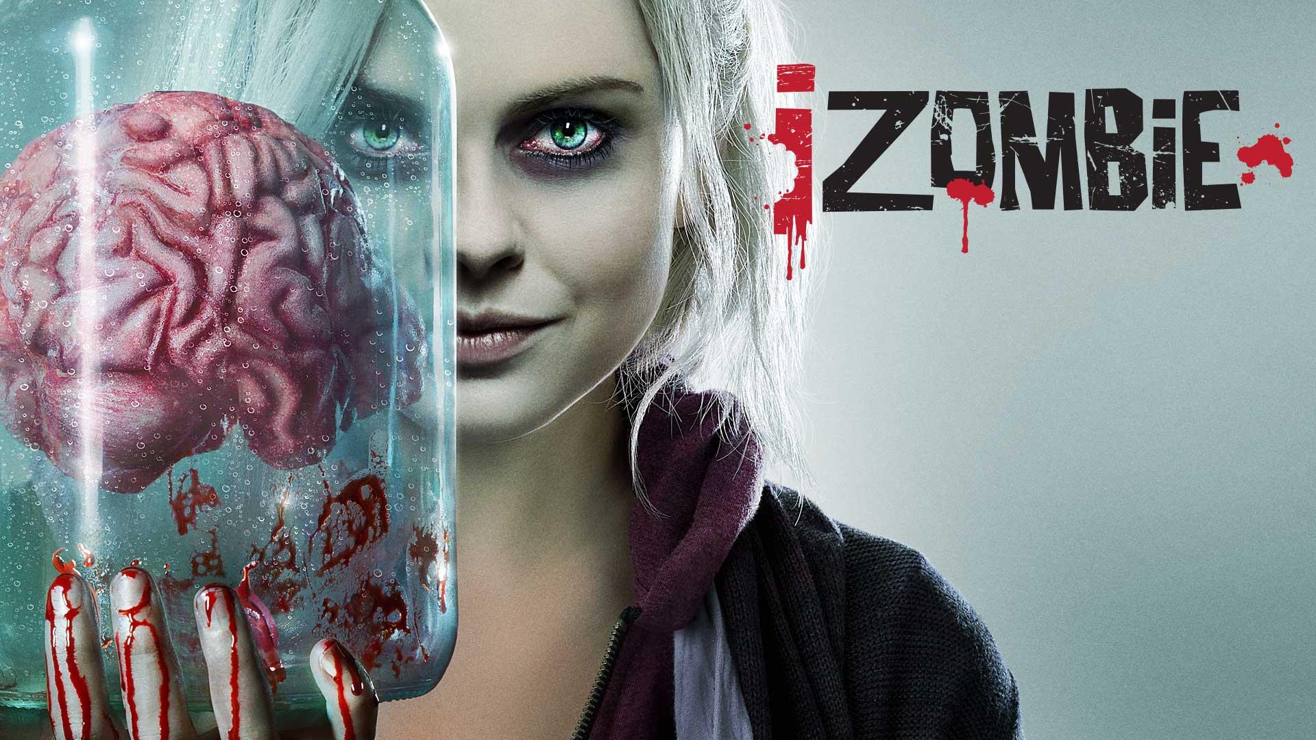 """iZombie Olivia """"Liv"""" Moore tient un bocal avec un cerveau dedans"""