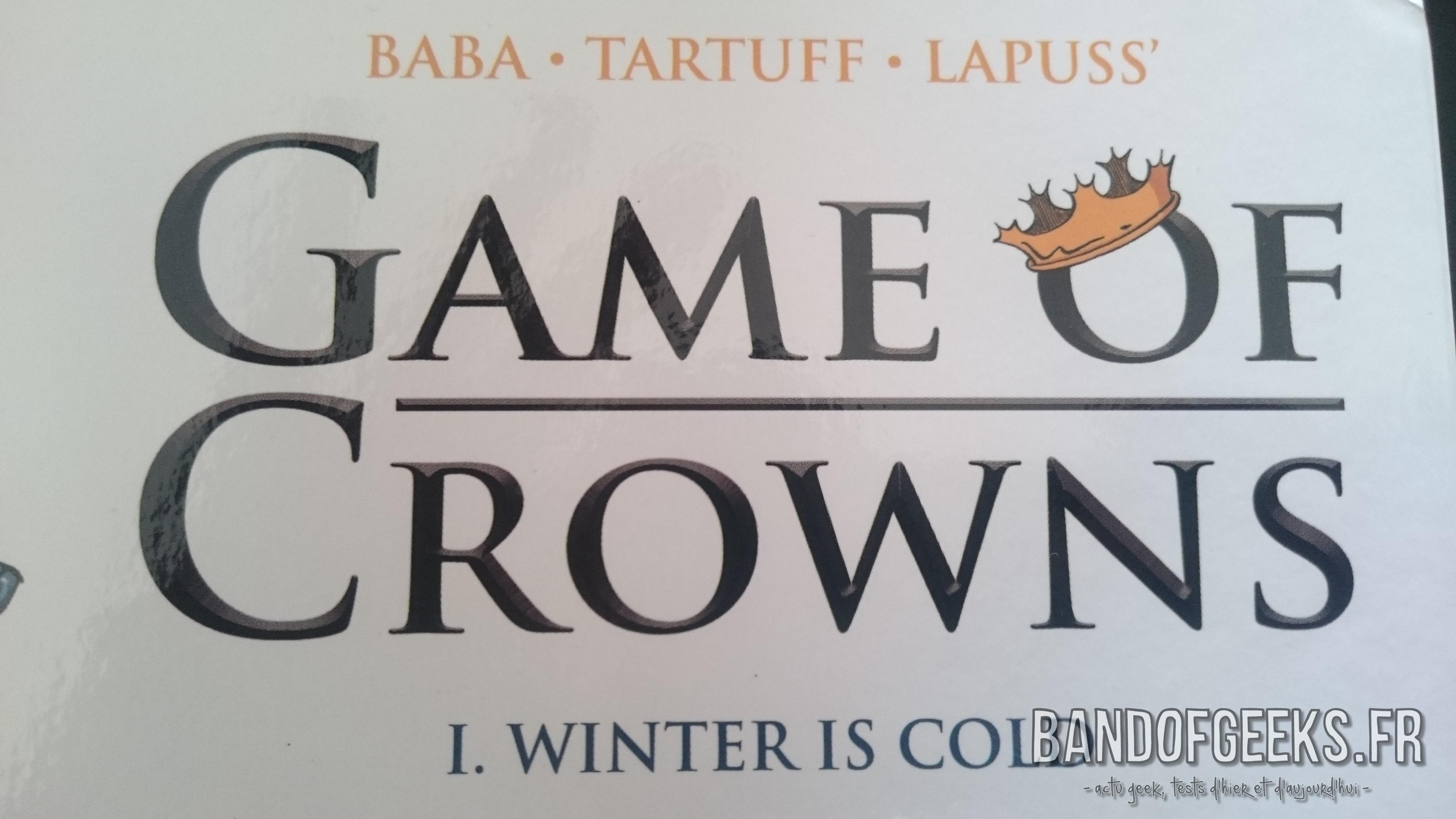 Game of Crowns titre de la BD