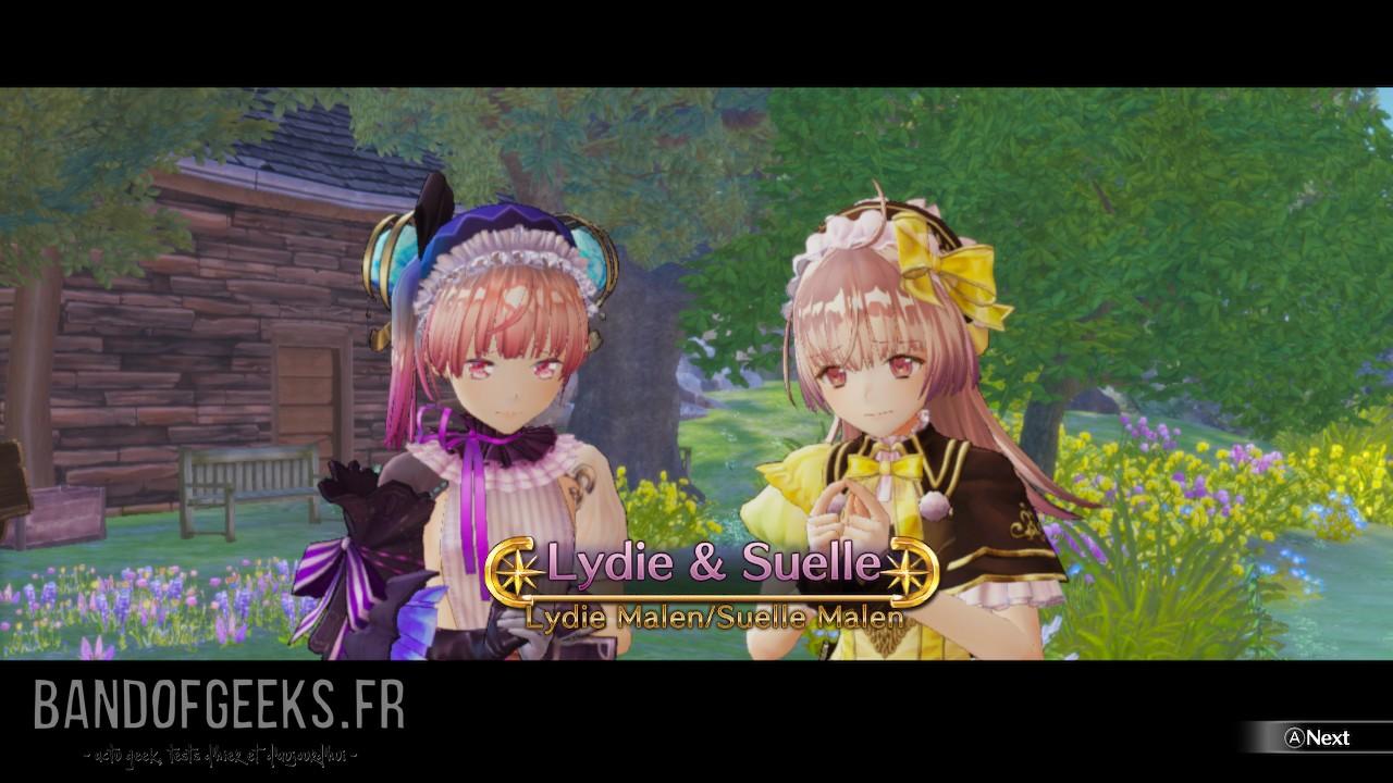 Atelier Lydie & Suelle présentation personnages
