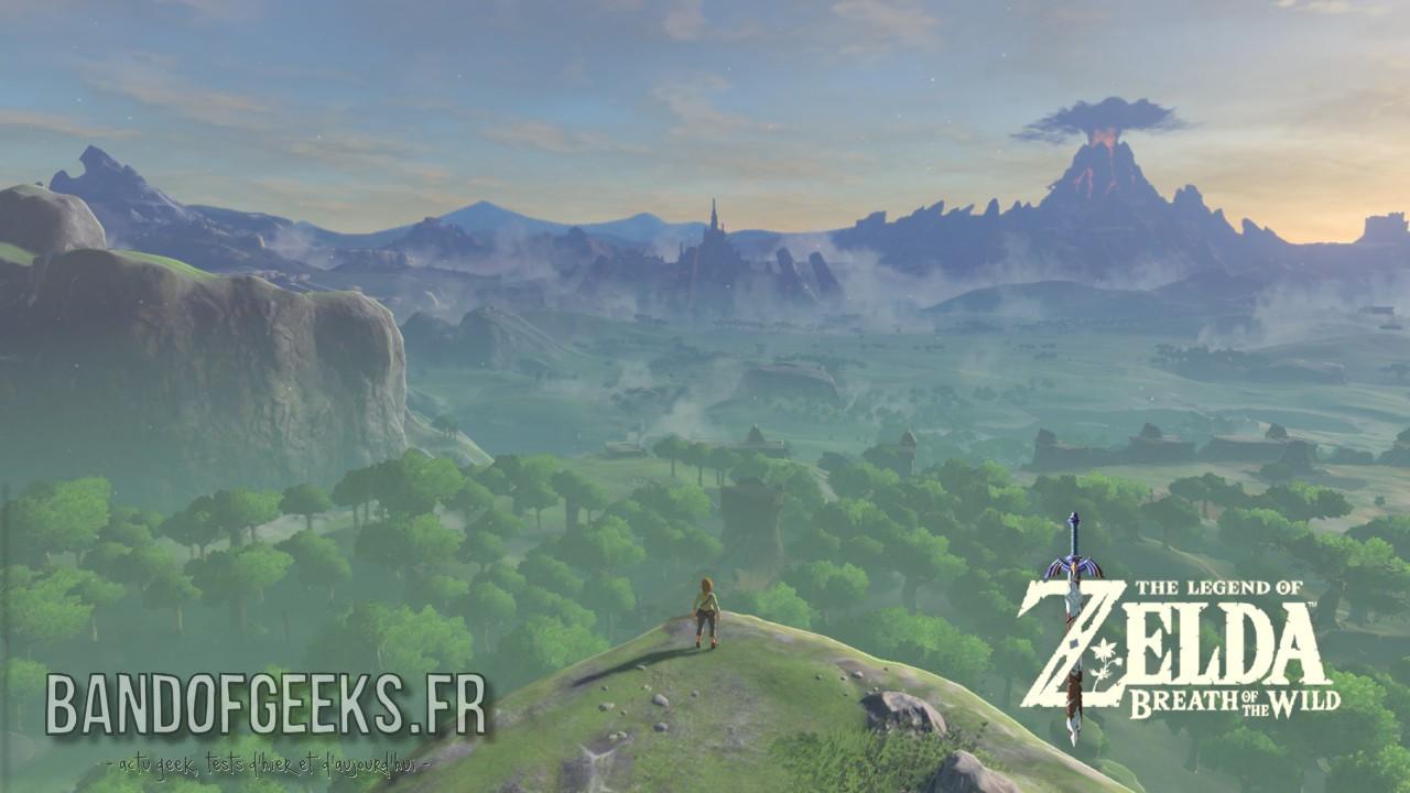 Breath of the Wild Link devant Hyrule